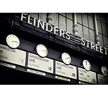 Station Clocks Photographic Print