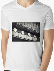 Station Clocks Mens V-Neck T-Shirt