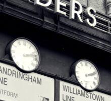 Station Clocks Sticker