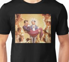 The Holy Sportacus and Baby Jesus Unisex T-Shirt