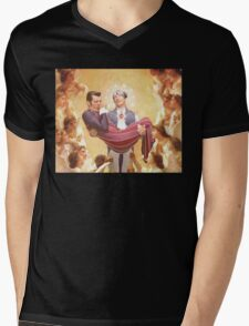 The Holy Sportacus and Baby Jesus Mens V-Neck T-Shirt