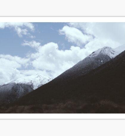 NZ mountains Sticker