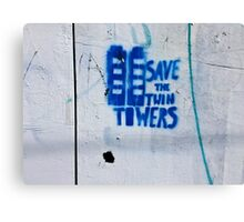 Save the Towers - horizontal  Canvas Print