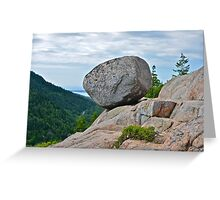 Bubble Rock, Acadia National Park, ME Greeting Card