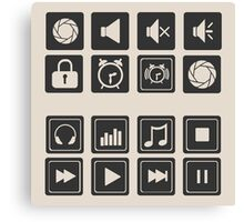 set of icons for web flat design outlines  Canvas Print
