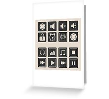 set of icons for web flat design outlines  Greeting Card