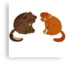 Warrior cats - Brambleclaw and Squirrelflight Canvas Print