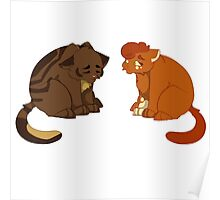 Warrior cats - Brambleclaw and Squirrelflight Poster