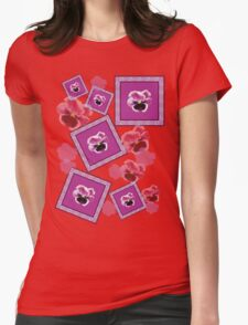 Pansy Womens Fitted T-Shirt