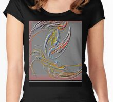 Abstract Free Form Women's Fitted Scoop T-Shirt