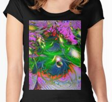 Cosmic Maze Women's Fitted Scoop T-Shirt