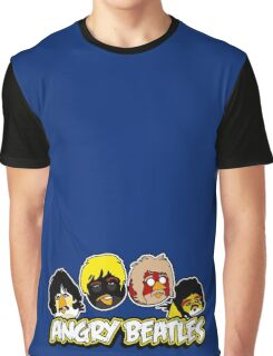 Angry Birds Parody- Angry Beatles - Beatles Parody Graphic T-Shirt