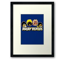 Angry Birds Parody- Angry Beatles - Beatles Parody Framed Print