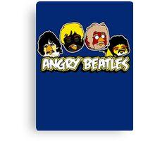 Angry Birds Parody- Angry Beatles - Beatles Parody Canvas Print
