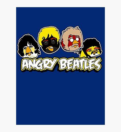 Angry Birds Parody- Angry Beatles - Beatles Parody Photographic Print