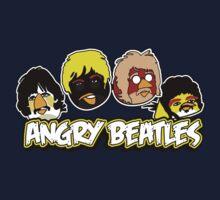 Angry Birds Parody- Angry Beatles - Beatles Parody Kids Tee