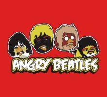 Angry Birds Parody- Angry Beatles - Beatles Parody One Piece - Short Sleeve