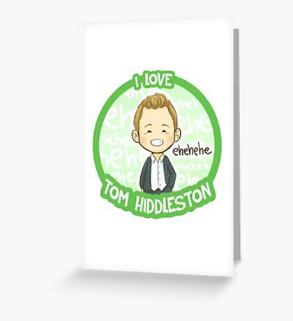 Tom Hiddleston Greeting Card