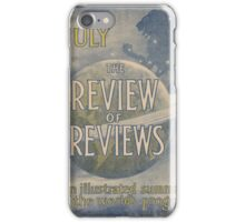 Artist Posters The review of reviews An illustrated summary of the world's progress July 0845 iPhone Case/Skin