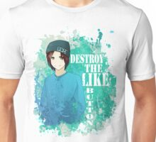 Destroy That Like Button (Blue)  Unisex T-Shirt