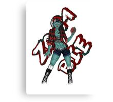 Zombie Child Canvas Print