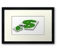 surround a dollar sign puzzle  Framed Print
