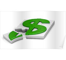 surround a dollar sign puzzle  Poster