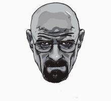 Walter White - Heisenberg - Breaking Bad- Black and White Kids Tee