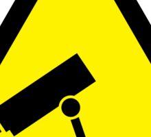 Caution CCTV Sticker Sticker