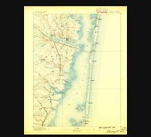 USGS TOPO Map New Jersey NJ Barnegat 255106 1888 62500 Unisex T-Shirt