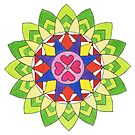 April's Mandala by Maryanne Lawrence