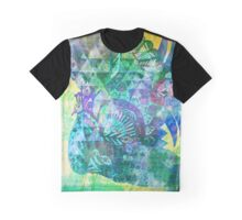 Shake a tail feather - Emerald Peacock Distortion  Graphic T-Shirt