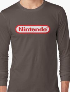 Retro NES Nintendo Logo Long Sleeve T-Shirt