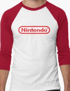 Retro NES Nintendo Logo Men's Baseball ¾ T-Shirt
