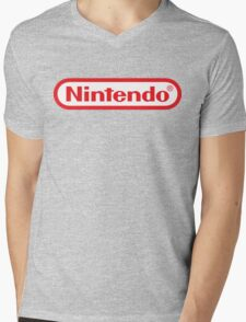 Retro NES Nintendo Logo Mens V-Neck T-Shirt