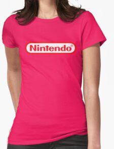 Retro NES Nintendo Logo Womens Fitted T-Shirt