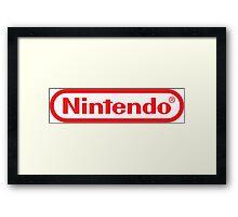 Retro NES Nintendo Logo Framed Print