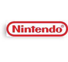 Retro NES Nintendo Logo Canvas Print