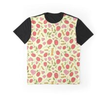 Roses, hearts and candy pattern Graphic T-Shirt