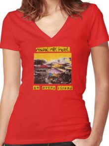 Neutral Milk Hotel - On Avery Island Women's Fitted V-Neck T-Shirt