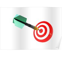 The success of hitting the target for the purpose of achieving the goal Poster