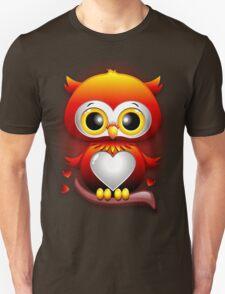 Baby Owl Love Heart Cartoon  Unisex T-Shirt