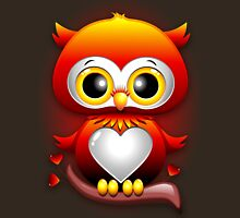 Baby Owl Love Heart Cartoon  Womens Fitted T-Shirt