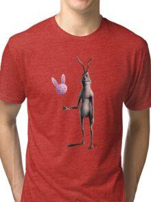 Rabbit & Balloon Tri-blend T-Shirt