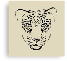 cheetah pencil portrait  Canvas Print