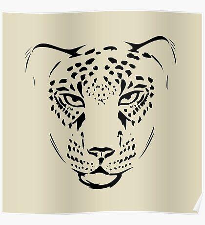 cheetah pencil portrait  Poster