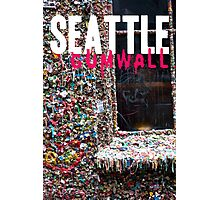 Seattle Gum Wall Photographic Print