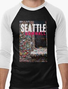 Seattle Gum Wall Men's Baseball ¾ T-Shirt