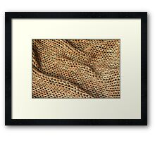 Knitted texture. Background. Framed Print