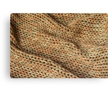 Knitted texture. Background. Canvas Print